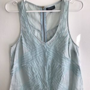 EUC - Topshop Sleeveless Blouse With Zipper (US6)